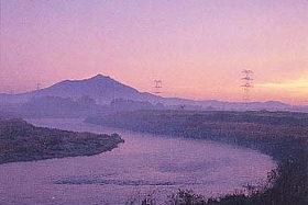 鬼怒川と筑波山