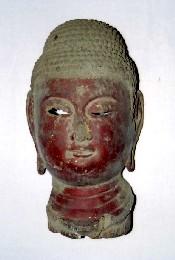 木造阿弥陀如来坐像 頭部残欠の画像