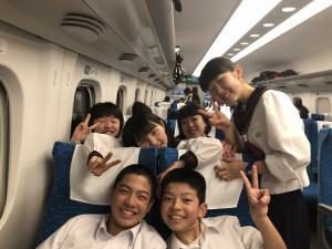 H30 修学旅行新幹線3