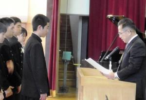 R12学期終業式式辞
