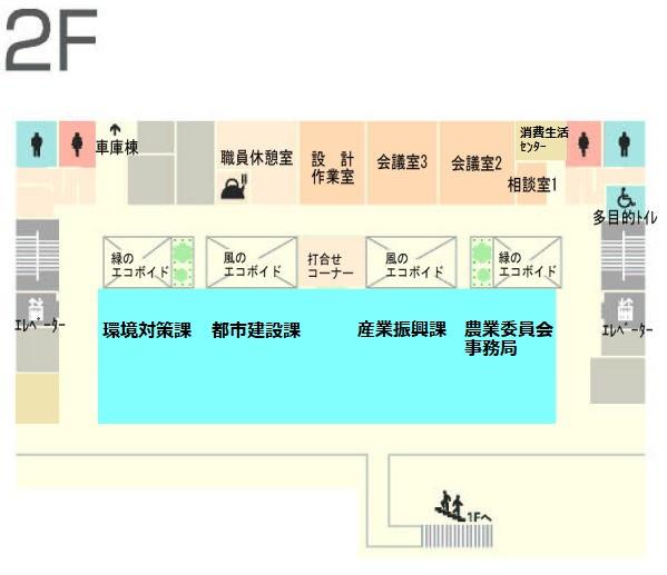 庁舎2階フロアマップ新