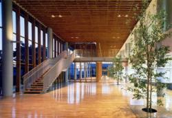 正面玄関・町民ホールの写真